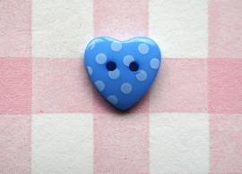 Hart blauw stip