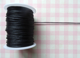Satijnkoord 1 mm zwart