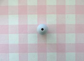 Siliconen kraal rond lichtgrijs 12 mm