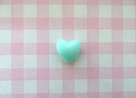 Siliconen kraal hart mintgroen