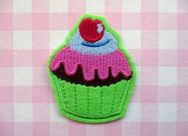 Cupcake groen met hartje