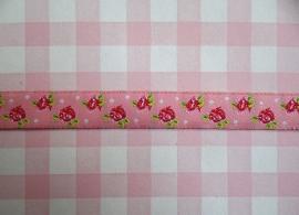 Sierband roosjes roze