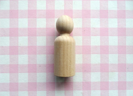 Houten poppetje jongen 65 mm