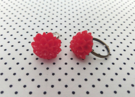 Ring chrysant rood