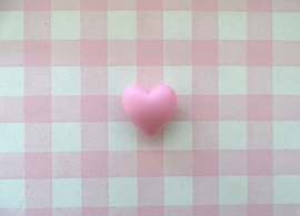 Siliconen kraal hart lichtroze