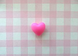 Siliconen kraal hart hardroze