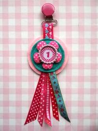 Verjaardagsbroche Roze Mint