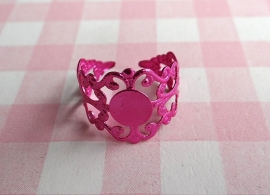 Filigraan ring metallic fuchsia