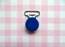 Speenclip  - bretelclip  metaal koningsblauw