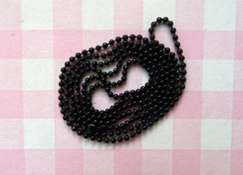 Ball chain zwart