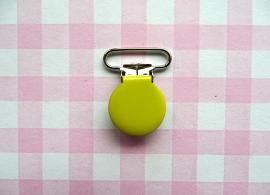 Speenclip  - bretelclip  metaal geel