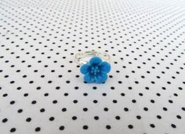 Ring hybiscus aquablauw