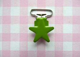 Speenclip metaal ster groen