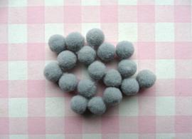 Pompom 10 mm grijs