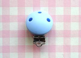 Speenclip siliconen blauw
