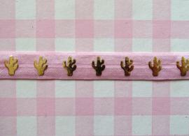 Elastiek cactus lichtroze