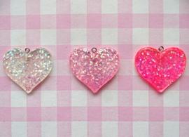Bedel hart glitter