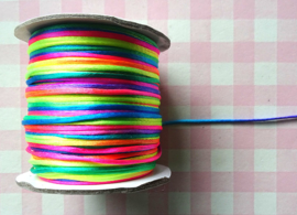Satijnkoord 1 mm regenboog