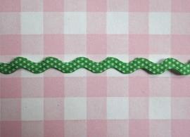 Zigzagband polkadot grasgroen