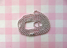 Ball chain zilver