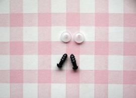 Veiligheids oogjes zwart 5 mm