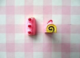 Cake rolletje roze