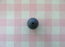 Siliconen kraal rond donkergrijs 15 mm