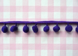 Pompom band middel paars