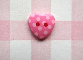 Hart roze stip