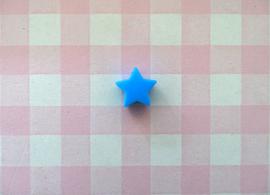 Siliconen kraal ster aquablauw