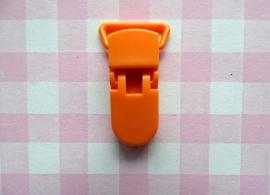 Speenclip  - bretelclip kunststof oranje