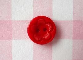 Knoop rond met bloem rood