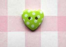 Hart groen stip