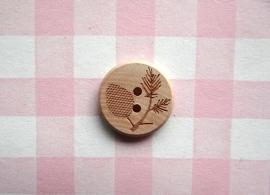 Knoop hout denneappel
