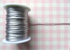 Satijnkoord 1 mm zilvergrijs