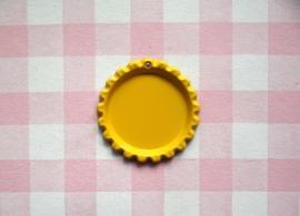 Bottle cap geel