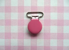 Speenclip  - bretelclip  metaal roze