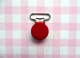 Speenclip  - bretelclip  metaal rood