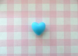 Siliconen kraal hart aquablauw