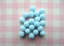 Pompom 10 mm lichtblauw