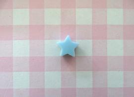 Siliconen kraal ster lichtblauw