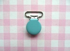 Speenclip  - bretelclip  metaal licht aquablauw