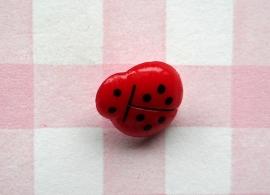Knoop lieveheersbeestje rood