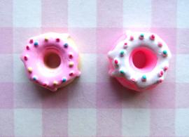 Flatback donut met glazuur