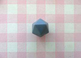 Siliconen kraal hexagon 14 mm donkergrijs