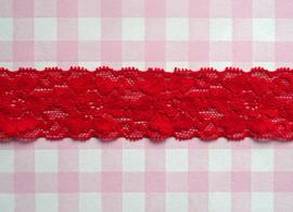 Elastisch kant rood 35 mm