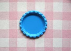 Bottle cap zonder gaatje blauw