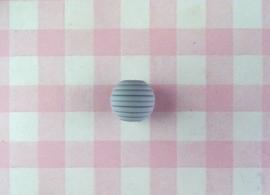Siliconen kraal ribbel 15 mm lichtgrijs