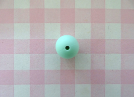 Siliconen kraal rond mintgroen 15 mm