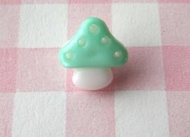 Knoop paddestoel mint groen